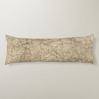 Germany Atlas Map Body Pillow