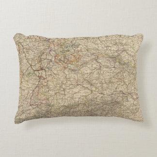 Germany Atlas Map Decorative Pillow