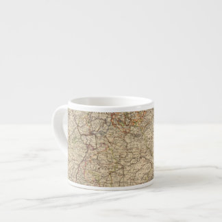 Germany Atlas Map Espresso Cup