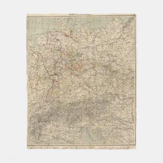 Germany Atlas Map Fleece Blanket