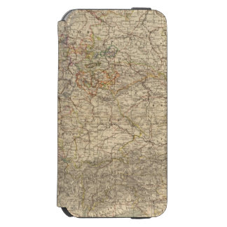 Germany Atlas Map iPhone 6/6s Wallet Case
