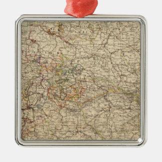 Germany Atlas Map Metal Ornament