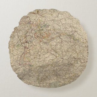 Germany Atlas Map Round Pillow