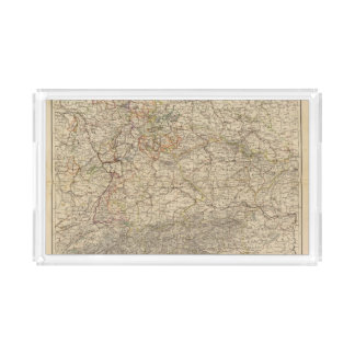 Germany Atlas Map Serving Tray