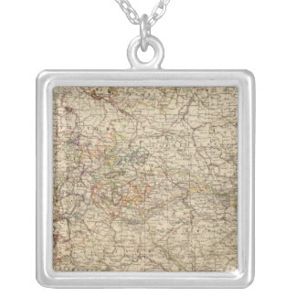 Germany Atlas Map Silver Plated Necklace