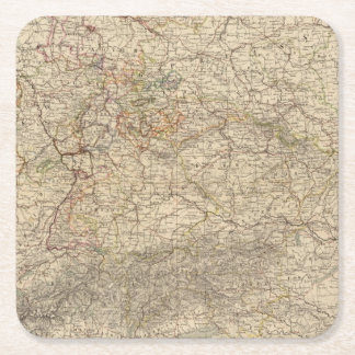 Germany Atlas Map Square Paper Coaster