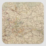Germany Atlas Map Square Sticker