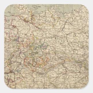Germany Atlas Map Square Sticker