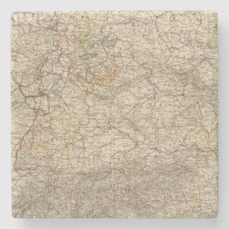 Germany Atlas Map Stone Coaster
