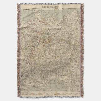 Germany Atlas Map Throw