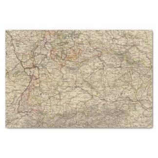 Germany Atlas Map Tissue Paper