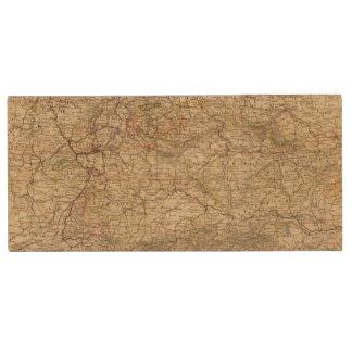 Germany Atlas Map Wood USB Flash Drive