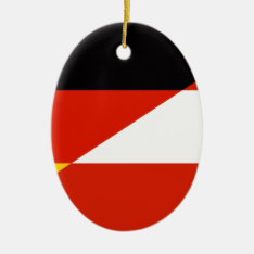 Germany-austria Flag Ceramic Ornament at Zazzle