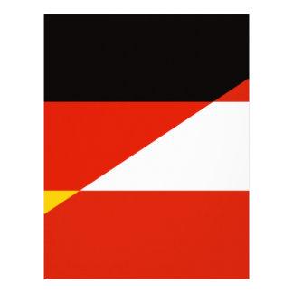 Germany-Austria Flag Letterhead