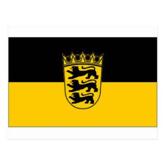 Germany Baden Wurttemberg Flag Postcard
