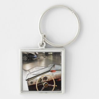 Germany, Baden-Wurttemberg, Silver-Colored Square Keychain