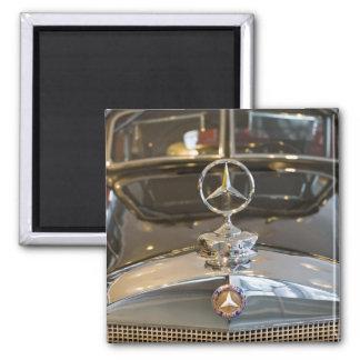 Germany, Baden-Wurttemberg, Stuttgart. Mercedes 2 Inch Square Magnet