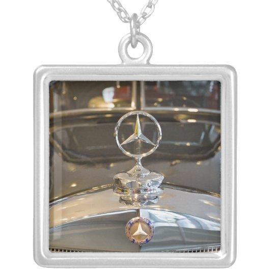 Germany, Baden-Wurttemberg, Stuttgart. Mercedes Silver Plated Necklace
