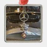Germany, Baden-Wurttemberg, Stuttgart. Mercedes Square Metal Christmas Ornament