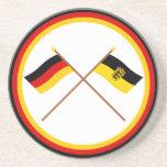 Germany & Baden-Württemburg Crossed Flags Coaster