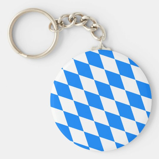 Germany Bavaria Flag Keychain