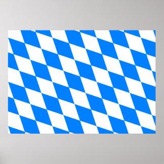 Germany Bavaria Flag Poster