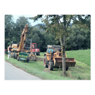 Germany, Bavaria, heavy digging equipment Postcard