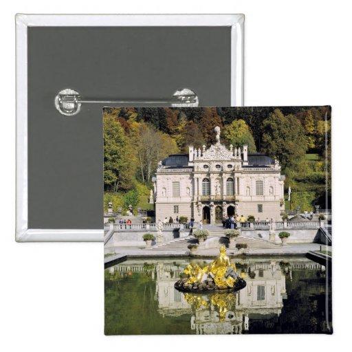 Germany, Bavaria, Linderhof Castle. Linderhof Button