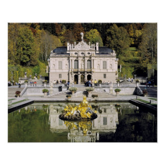 Germany, Bavaria, Linderhof Castle. Linderhof Poster