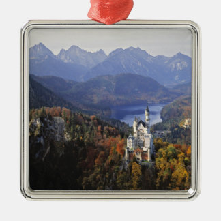 Germany, Bavaria, Neuschwanstein Castle. King Metal Ornament