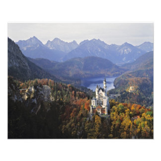 Germany, Bavaria, Neuschwanstein Castle. King Photo Print