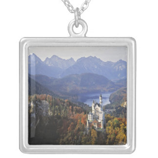 Germany, Bavaria, Neuschwanstein Castle. King Silver Plated Necklace