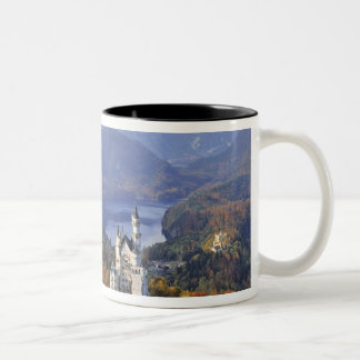 Germany, Bavaria, Neuschwanstein Castle. King Two-Tone Coffee Mug