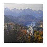"Germany, Bavaria, Neuschwanstein Castle. Tile<br><div class=""desc"">Germany,  Bavaria,  Neuschwanstein Castle King Ludwig II"