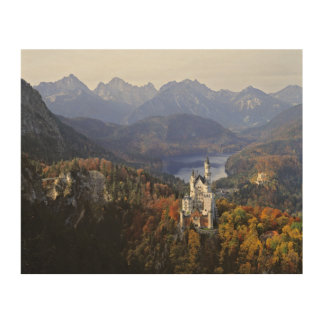 Germany, Bavaria, Neuschwanstein Castle. Wood Print