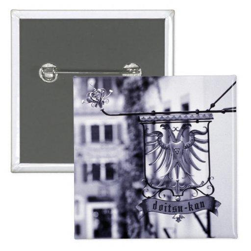 Germany, Bavaria, Rottenburg. Hotel sign 2 Inch Square Button