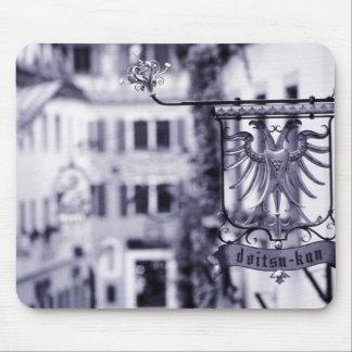 Germany, Bavaria, Rottenburg. Hotel sign Mouse Pad