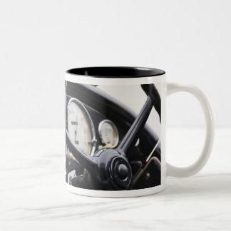 Germany, Bayern-Bavaria, Munich. BMW Welt Car 3 Two-Tone Coffee Mug