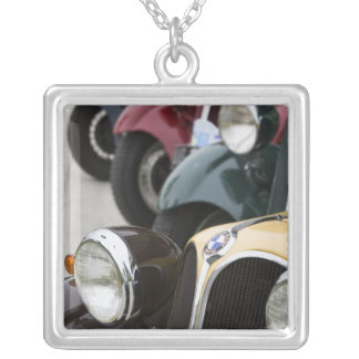 Germany, Bayern-Bavaria, Munich. BMW Welt Car 5 Silver Plated Necklace
