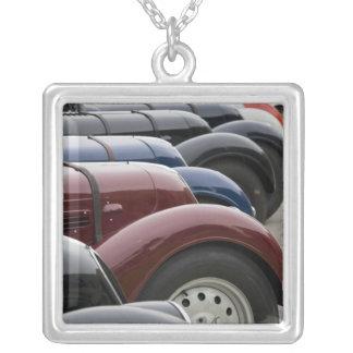 Germany, Bayern-Bavaria, Munich. BMW Welt Car Silver Plated Necklace