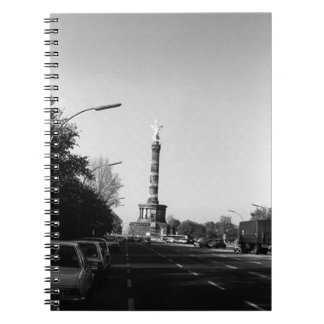Germany Berlin 17th June Street victory column 70s Spiral Note Books