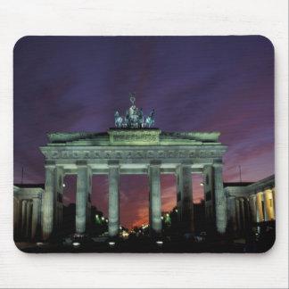 Germany, Berlin. Brandenburg Gate at night. Mouse Pad