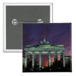 Germany, Berlin. Brandenburg Gate at night. Pin