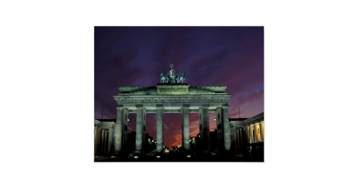 brandenburg gate at night - photo #30