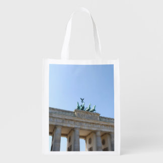 Germany, Berlin. Brandenburg Gate Grocery Bags