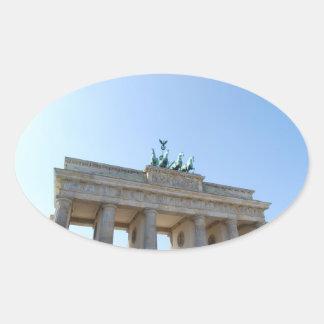 Germany, Berlin. Brandenburg Gate Oval Sticker