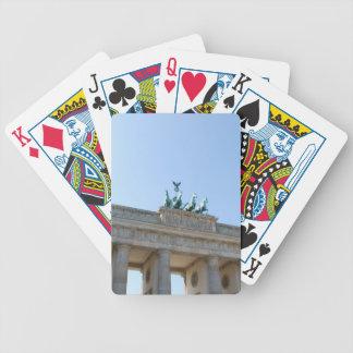 Germany, Berlin. Brandenburg Gate Bicycle Card Deck