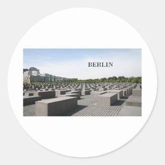 Germany Berlin Holocaust (St.K) Classic Round Sticker