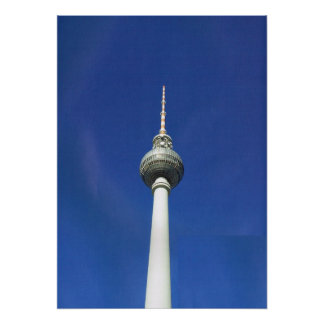 Germany, Berlin, Television Mast Poster