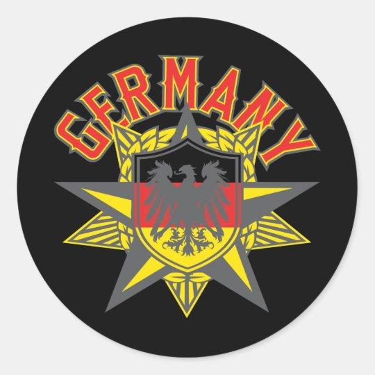 Germany Big and Bold Classic Round Sticker